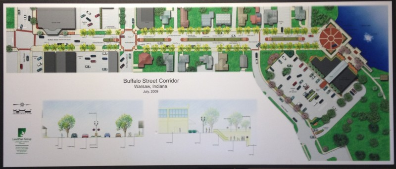 A study completed in 2002 led to this artist's rendition of what Buffalo Street in downtown Warsaw could look like in the future.