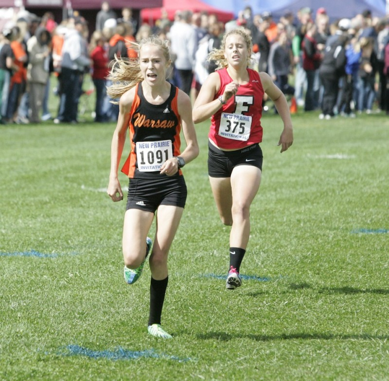 Freshman Allison Miller will be a key performer Saturday for No. 21 Warsaw in the cross country semi state at New Prairie (File photo by Tim Creason)