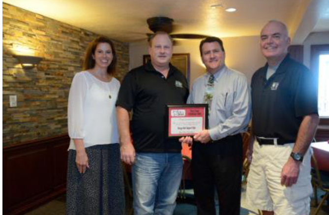 Pictured in the photo of Sleepy Owl Supper Club are, from left to right: Renea Salyer, Warsaw Kosciusko County Chamber Member Relations; Jeff Larson, Owner; Mark Dobson IOM, President & CEO Warsaw Kosciusko County Chamber; and Chip Erwin, Sleepy Owl Supper Club.  (Photo provided)