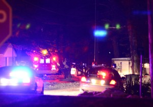 Police and medics are at B10 Lane near North Webster where an alleged shooting occurred. (Photos by Stacey Page)