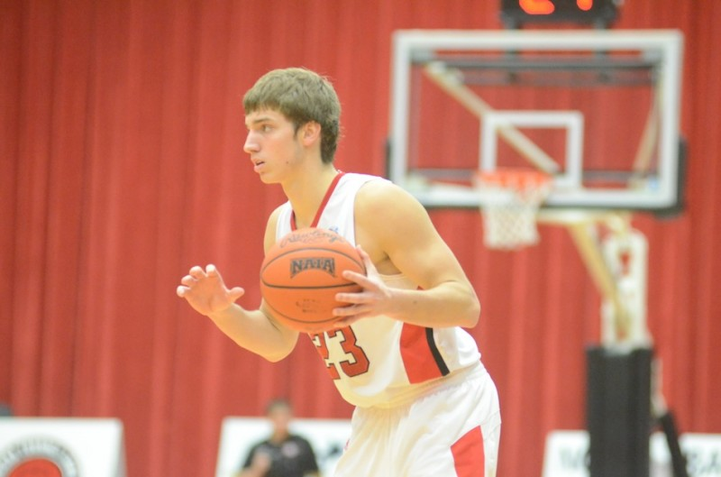 Caleb Featherston surveys the floor for the Lancers.