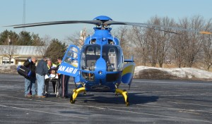Youth airlifted