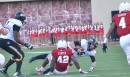 IU's David Cooper brings down Purdue's Danny Etling for a sack.