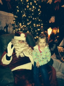 Lilli with Santa in Silver Lake. (Photo provided)
