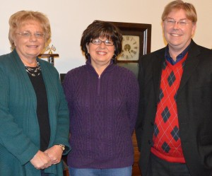Jane Hunsberger, center, was elected as the new Jefferson Township Advisory Board member. She will fill the remaining term of John Beer who resigned Dec. 6. Shown on the left is Beth Krull, township trustee and on the right is Randy Girod, county Republican chairman. (Photo by Deb Patterson)