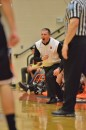Hamilton Heights head coach Chad Ballenger voices his displeasure with a call late in Friday night's game.