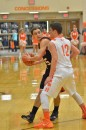 Jordan Stookey looks for a pass inside in Friday's championship game.
