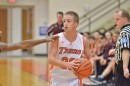 Warsaw's Nate Pearl looks for a teammate to pass to in third quarter action.