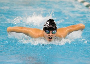 Mikala Mawhorter of Wawasee led Wawasee in the butterfly, swimming a season-best 1:06.62.