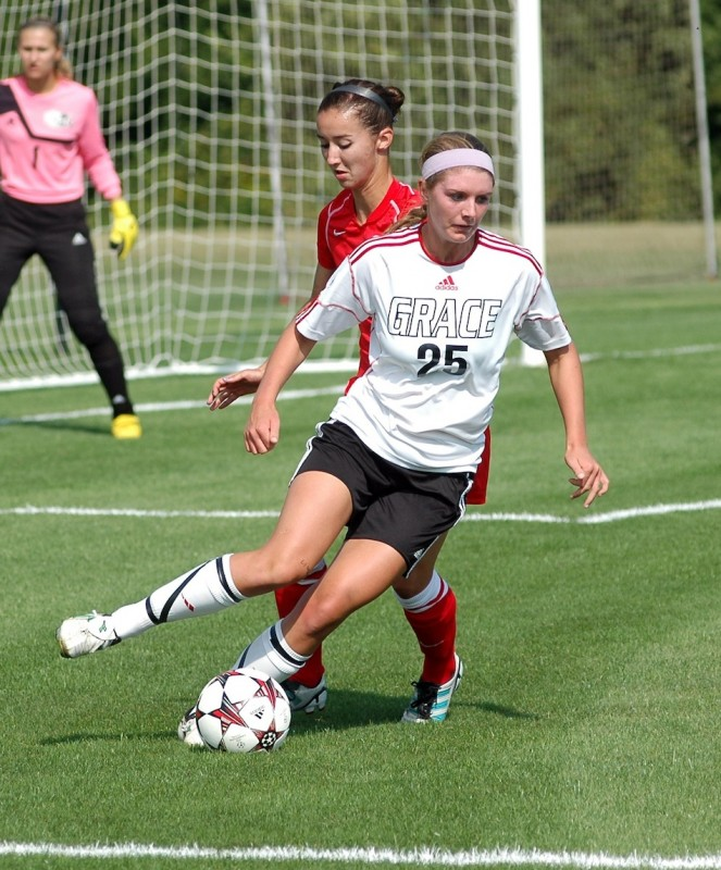 Grace College freshman Meredith Hollar, a former standout at WCHS, was one of several soccer players honored from the Lancers' program (Photo provided by Grace College Sports Information Department)