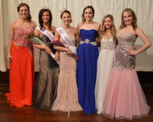 Winners in the Miss Kosciusko County Scholarship Pageant include Mary Jane Mix, Miss Kosciusko County first runner-up; Paige Geer, Miss Kosciusko County; Alexandra Fiscus, Miss Kosciusko's Outstanding Teen; Alyssa Hochstetler, Miss OT first runner-up; Ellie Barmes, Miss OT second runner up; and Alyssa Gulick, Miss OT third runner-up. (Photo by Deb Patterson)