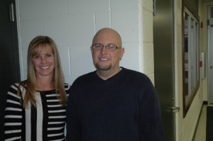 As they were in 2013, Rebecca Linnemeier, left, will be the Wawasee school board president and Rob Fisher will be the board secretary in 2014. Mike Wilson, vice president of the board, was not present.