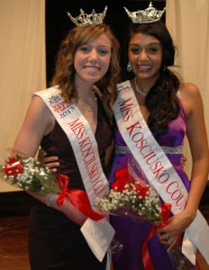 Madeline Batista, left, was crowned Miss Kosciusko County Outstanding Teen during a scholarship pageant in Syracuse Saturday night. She is shown with Miss Kosciusko County winner Shana Patel. (File photo)