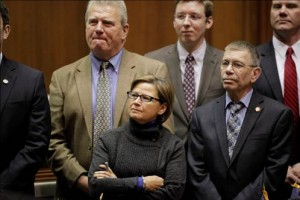 State Rep. Rebecca Kubacki of Syracuse joined fellow lawmakers for the announcement of the 2014 legislative agenda.