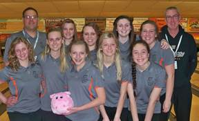 The Warsaw girls bowling team claimed a sectional championship (Photo provided by Jenny Ransbottom)