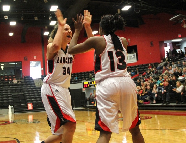 Allison Kauffman (left) and Juaneice Jackson (right) of Grace have been honored by the Crossroads League (Photo provided by Grace College Sports Information Department)