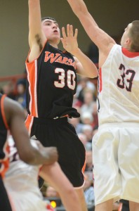 Jake Mangas led Warsaw with 15 points Friday night in a 44-40 loss at Fort Wayne Carroll.