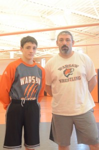 Warsaw freshman wrestler Kyle Hatch and his father/coach Dan are headed to the State Finals.