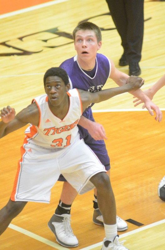 Warsaw senior Moses Marandet scored eight points Friday night. The Tigers beat Luers 73-46 in their home finale.