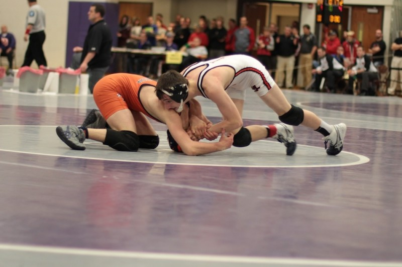 Kyle Hatch earned his State Finals berth by placing fourth at 106 at the semi state last Saturday (Photo provided by Scott Gareiss)
