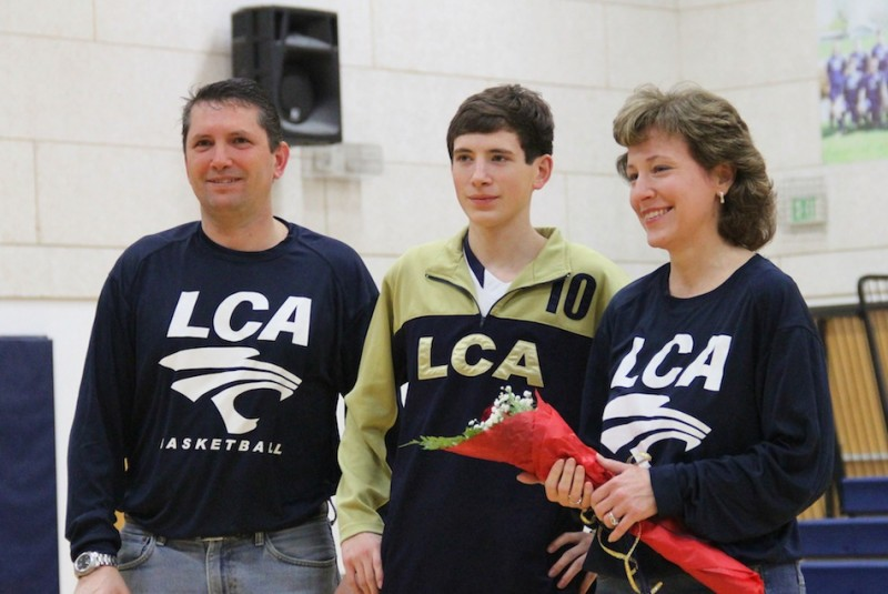 Senior Cody Kline helped lead LCA to a win in his final home game Tuesday night.