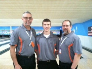 Jim Pifer (center) with coaches Glen Ransbottom and Kirk Wyman (Photo provided)