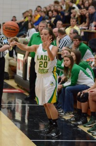 Cara Hoffman scored 10 points in the fourth quarter to help lift the Lady Vikings.