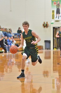 Gage Reinhard breaks away during the third quarter of Saturday's game.