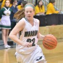 Hannah Haines led the Lady Warriors with three steals on Friday night. (Photo by Nick Goralczyk)