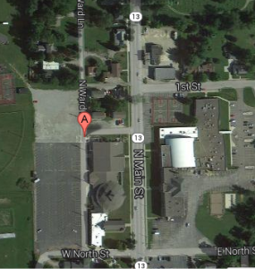Ward Lane in North Webster was vacated at the request of the North Webster Church of God. A typographical error, however, has voided the initial vacation, which is now being refiled. (Photo courtesy of Google Earth)