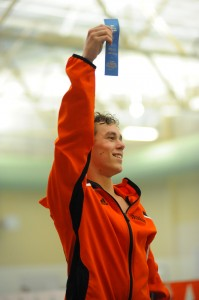 Spencer Davidson will have to work hard to gain another podium position in the breaststroke.