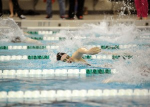 Warsaw freshman Brenna Morgan won the 50 and 100 freestyles at both the Northern Lakes Conference championships and the Warsaw Sectional.