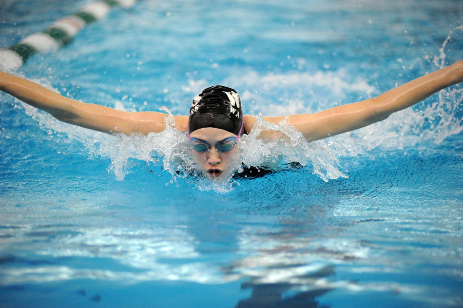 Wawasee freshman Paige Miller has been breaking records all season, including five at the Concord Sectional last weekend. Freshmen across the area have followed suit. (Photos by Mike Deak)