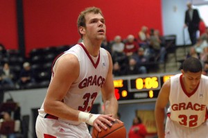 Greg Miller is just the eighth player in Grace men's basketball history to tally 1,000 points and 1,000 rebounds.