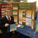 Trenton Barnhart, fifth grade, won a first place ribbon and Purdue Agriculture Research Award and Serim Research Award for his topic on Trash Gas and Biomass Energy. (Photo provided)