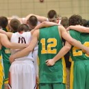 Both teams gathered together for a prayer circle following Friday's intense sectional contest.
