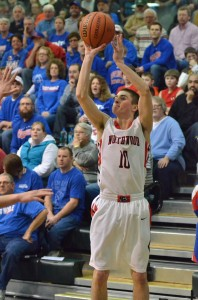 Senior Tanner Farmwald is a key man in the backcourt for the Panthers.