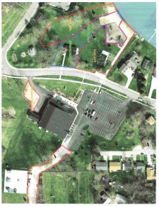 Shown is a map of Lakeside Park, Syracuse Community Center and the Syracuse Skate Park with areas marked for the upcoming outboard motor races. Jordan Swain of the Northern Indiana Outboard Racing Association hopes to hold an event at Lakeside Park May 10. Hot pit areas, where racing trailers will be set up, will take up much of Lakeside Park for the event, while the spectators will be funneled toward the beach. Parking for the tow vehicles will be located behind the skate park so as to not interfere with events at the community center or spectators.