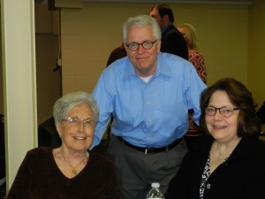 Northernor Award Panel members Jean Northenor, KLA founder; Brad Bishop, OrthoWorx; and Suzie Light, Kosciusko County Community Foundation, listen to the KLA White Paper presentations at Project Proud. (Photo provided)