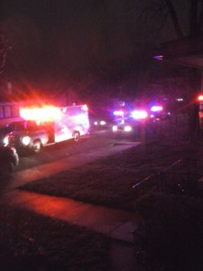 The scene of a possible stabbing on High Street in Warsaw. (Photo provided by Tammi Durik)