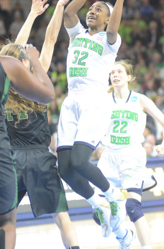 Sophomore star Jewell Loyd had a career-high 31 points versus ACC foe Maryland during the regular season. Loyd's undefeated Irish play the Terps Sunday night in the Final Four in Nashville.