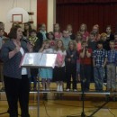 Mrs.Carrissa Jackson introducing the students and their songs. (Photo provided)