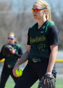 Wawasee pitcher Meghan Fretz struck out 12 Plymouth hitters in a 14-1 win Wednesday afternoon. (File photo by Mike Deak)