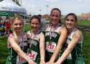 The Wawasee 4x200 relay team of Catherine Yankosky, Sarah Lancaster, Skylar Janda and Leigh-Ann Shrack won the event at the Goshen Relays with a time of 1:51.70. (Photo provided)