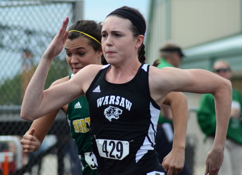 Sprint star Ann Harvuot hopes to earn a State Finals spot for the Tigers.