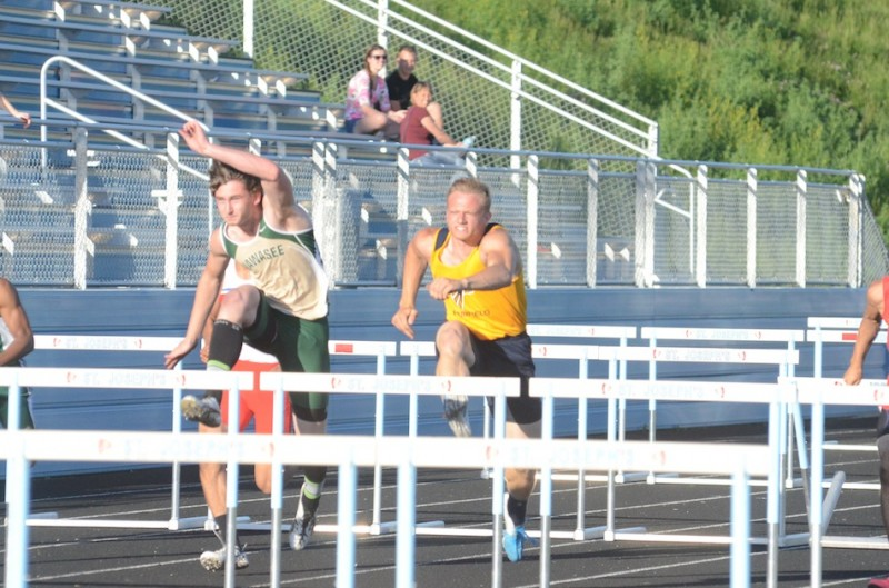 Wawasee junior Clayton Cook placed second in the 110 hurdles at the South Bend St. Joseph Regional Thursday night to advance to the State Finals.