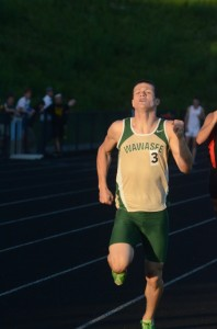 Zach Cockrill placed fourth in the 800 for the Warriors.