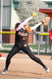 Senior Kaleigh Speicher will lead her Warsaw team into softball sectional play. The Tigers will face Concord May 26 at Elkhart Central.