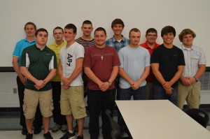 Junior students involved in the building trades program of the Wawasee Area Career and Technical Cooperative include, in front from left, Nathan Katzer, Zachary Cockrill, Andrew Zartman, Michael Turner and Maclain Herr. In the back row are Kyle Smiley, Timothy Cramer, Nathan Horn, Bailey Hershberger, Leonard Kline and Dominik Sanderson. Not present for the photo were Jorge Castro and Andrew Nicolai.