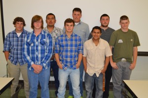 Senior students involved in the building trades program of the Wawasee Area Career and Technical Cooperative include, in front from left, Derek Charles, Brandin McCulloch and Brandon Rocha. In the back row are Nathan Hare, Rodrigo Hernandez, Jamison Bolt, Dylan Steele and Terrance Farmer.